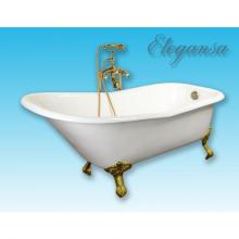Чугунная ванна Elegansa Schale Gold отдельностоящая
