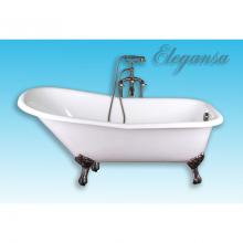 Чугунная ванна Elegansa Schale Antique (Bronze) отдельностоящая