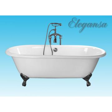 Чугунная ванна Elegansa Gretta Chrome отдельностоящая