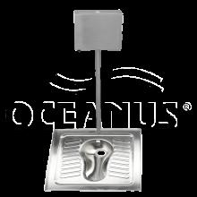 Чаша генуя из нержавейки Oceanus 4-005.2 + бачок, матовый