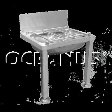 Мойка хозяйственные из нержавейки Oceanus 6-003.1, матовый
