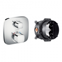 Комплект / Набор смесителей Hansgrohe Ecostat E 15708000 внешняя часть + Скрытая часть Ibox universal 01800180