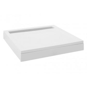 Душевой поддон Aquanet Stone Lite GB900S 90x90 (с ножками и панелью) 203598