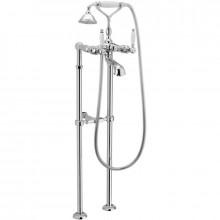 Смеситель для ванны Webert Dorian DO720801 Бронза/белый