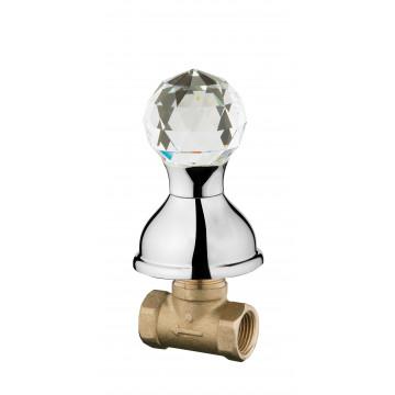Вентиль запорный Webert Karenina КА690101 Хром/кристалл Swarovski