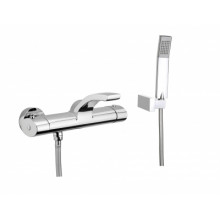 Смеситель для ванны Webert Wolo WO980201 Черный матовый с ручкой хром