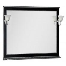 Зеркало Aquanet Валенса 110 черный краколет-серебро 180296