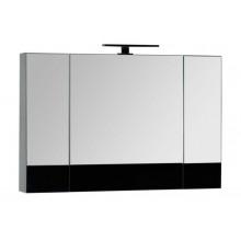Зеркало-шкаф Aquanet Верона 100 черный 175386