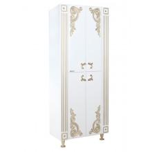 Пенал Bellezza Венеция 60 Люкс, напольный, цвет - белый патина золото, 65*180*34 см