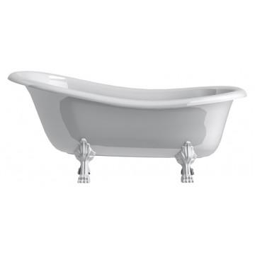 Ванна из литьевого мрамора Астра-Форм Роксбург ножки белые
