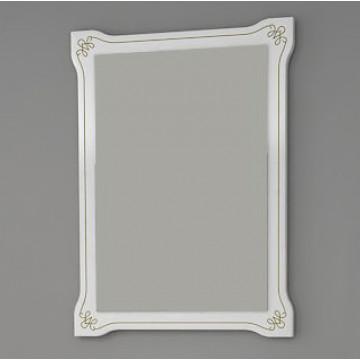 Зеркало АСБ-Мебель Парма 60 белое патина золото