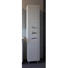 Пенал АСБ-Мебель Алекса 40 L, цвет - белый глянец/серебро