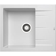 Кухонная мойка Pyramis Alazia арт. 79809011, 59x50 см, белый опал