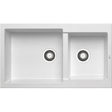 Кухонная мойка Pyramis Alazia арт. 79811711, 86x50 см, белый опал