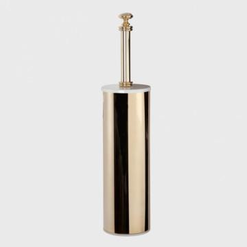 Ершик для туалета Tiffany World Harmony арт. TWHA020bi/oro, белый/золото