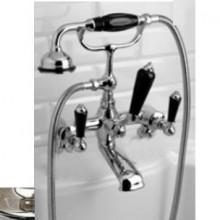 Смеситель Devon&Devon Black Dandy MARF40MNKSBD для ванны/душа, блестящий никель