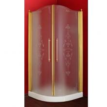 Душевой уголок ML.DDM-22.790.ST DO профиль золото/стекло матовое с декором