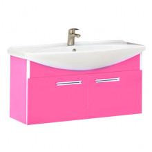Тумба с раковиной Misty Джулия 75 подвесная, цвет розовый