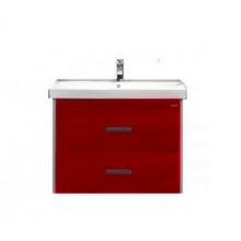 Тумба с раковиной Misty Джулия Qvatro 65 подвесная с 2 ящиками, цвет бордовый