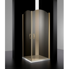 Душевой уголок LUX-ELEG1010-NTRCR цвет профиля хром стекла прозрачные