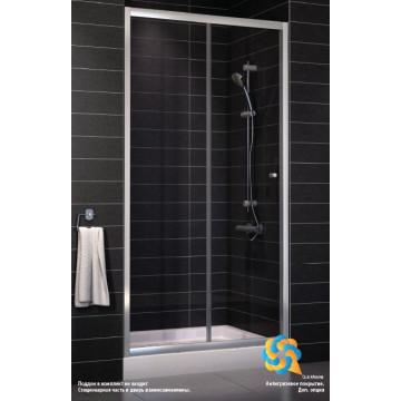 Душевая дверь Vegas ZP (knob) 0140 01 01 цвет профиля - белый, стекло - прозрачное, 140x190 см