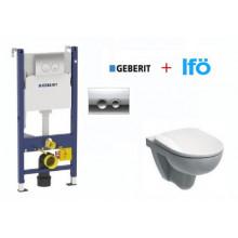 Подвесной унитаз с инсталляцией комплект Geberit Duofix 458.124.21.1 + IFO Special RP731300100 с сиденьем SoftClose
