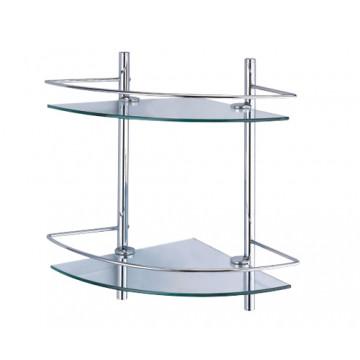 Полка стеклянная двойная угловая WasserKRAFT K-3122