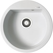 Кухонная мойка Pyramis Alazia арт. 79810111, d51 см, белый опал