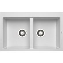 Кухонная мойка Pyramis Alazia арт. 79810911, 79x50 см, белый опал