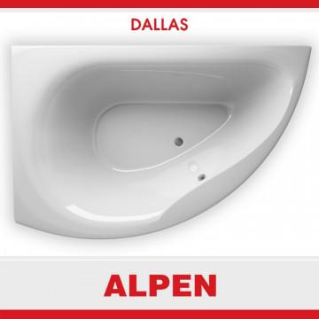 Акриловая ванна ALPEN Dallas арт. AVB0012, 160x105 см, левая