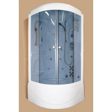 Душевая кабина Appollo TS-49W гидромассажная в тонированном стекле 95х95х220 см