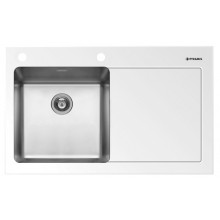 Кухонная мойка Pyramis Crystalon арт. 109500630, 86x53 см, левая