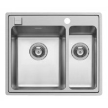 Кухонная мойка Pyramis Pella арт. 108910201, 60,5x52 см, белый, левая