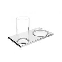 Двойной держатель со стаканом и мыльницей Keuco Edition 400 11556 019000