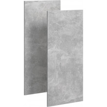 Комплект дверей шкафа-пенала Aqwella 5 Stars Mobi MOB0735BS бетон светлый
