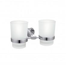 Держатель с двумя стаканами для щеток Raiber R53903, хром